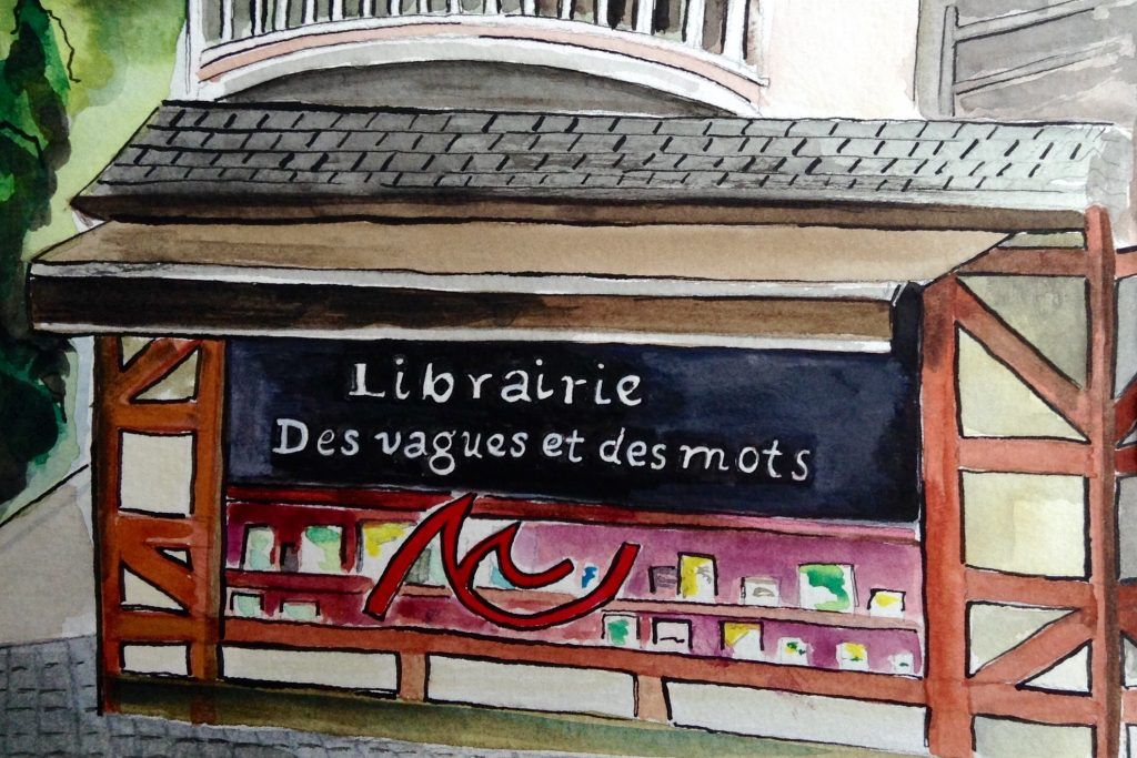 Des vagues et des mots librairie