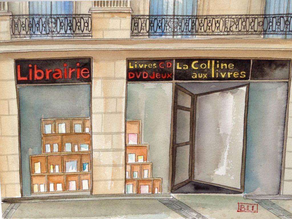 librairie La colline aux livres illustration